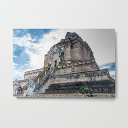 The Chedi of Wat Chedi Luang_Thailand Metal Print