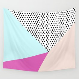 Polka dot rain geometric Wall Tapestry