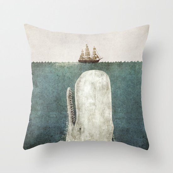 The Whale - vintage option Throw Pillow