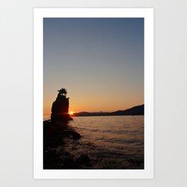 burrard inlet siwash sunset Art Print