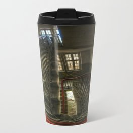 Fish eye stairs Travel Mug