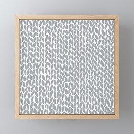 Hand Knit Zoom Grey Framed Mini Art Print