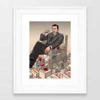 mad men Framed Art Prints featuring Mad Men by David M. Buisán