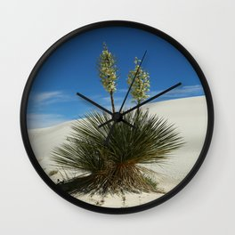 Soap Yucca In The White Sands Dunes Wall Clock