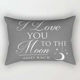 I Love You To The Moon & Back Children's Quote Rectangular Pillow