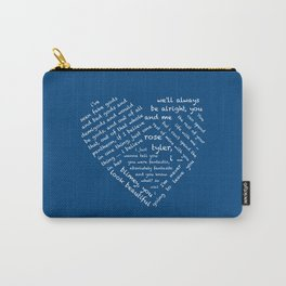 Quotes of the Heart - Doctor/Rose (White Carry-All Pouch