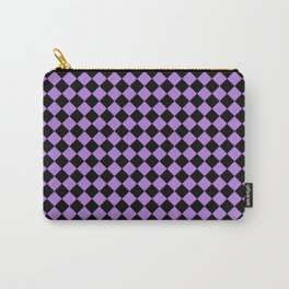 Black and Lavender Violet Diamonds Carry-All Pouch