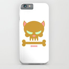 Animal Skull Soon Cat Skull Cats Are Jerks Plotting Revenge iPhone Case