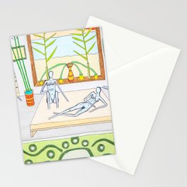 Ladies' night with a naked man Stationery Cards