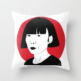 Rei Kawakubo Throw Pillow