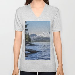 South Sister from Sparks Lake Unisex V-Neck