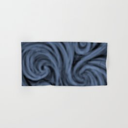 dark blue swirl Hand & Bath Towel