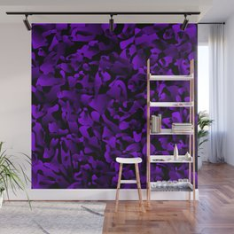 Explosive bright on color from spots and splashes of violet paints. Wall Mural