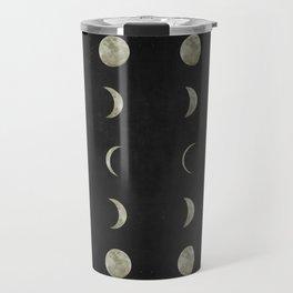 Moon Phases on Black Sky Travel Mug