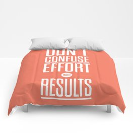Lab No. 4 - Don't confuse effort with results Inspirational and Motivational Quotes Poster Comforters