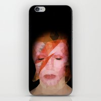 bowie iPhone & iPod Skins featuring bowie by Taranta Babu