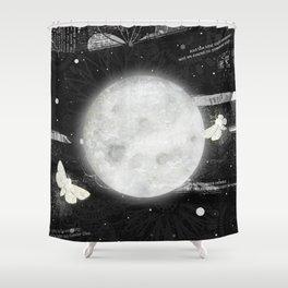 Moths on the Moon Shower Curtain