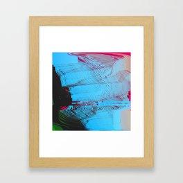 MEMORY MOSH - Glitch Art Print Framed Art Print