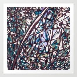 Purpe pattern Art Print