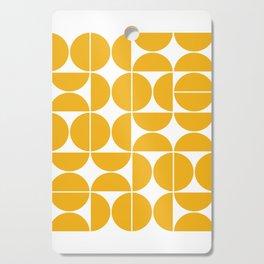 Mid Century Modern Geometric 04 Yellow Cutting Board