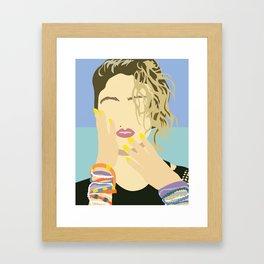 80's Style Icons Framed Art Print