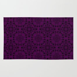 Plum Purple Lace Rug