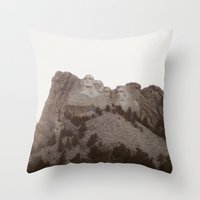rushmore Throw Pillows featuring Grand Rushmore by Jacob Neal