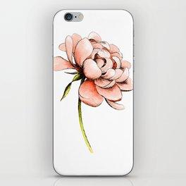 Coral Pink Peony iPhone Skin