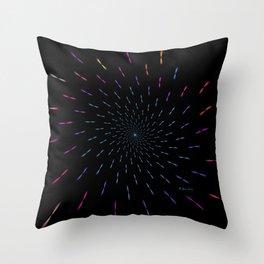 Simultaneous Rotations Throw Pillow