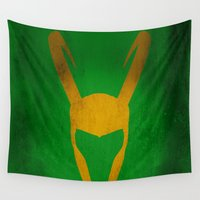 loki Wall Tapestries featuring Loki by Some_Designs
