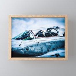 Cockpit Of A Modern Two-Seater Fighter Plane. Aviation Art Framed Mini Art Print
