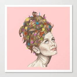 Hair Garden // twiggy with the cool hair Canvas Print