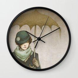 Winter Rains Wall Clock