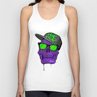 hip hop Tank Tops featuring Hip Hop 4 life by Mike Karolos