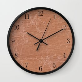 Beige canvas cloth texture abstract Wall Clock