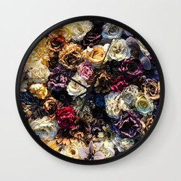 Flower Wall // Full Color Floral Accent Background Jaw Dropping Decoration Wall Clock