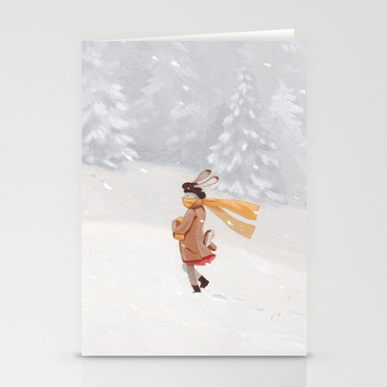 Snow storm Stationery Cards