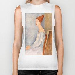 """Amedeo Modigliani """"Portrait of Jeanne Hébuterne"""" Biker Tank"""