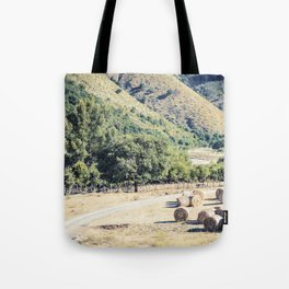 Free farm animals on a river bed in Cilento Tote Bag