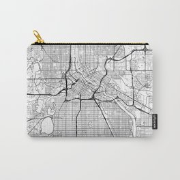 Minneapolis Map White Carry-All Pouch