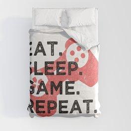 Eat. Sleep. Game. Repeat. T Shirt Gamer TShirt Video Game Shirt Eat Sleep Repeat Gift Idea Comforters
