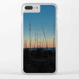 Full Moon Rise at Sunset Clear iPhone Case