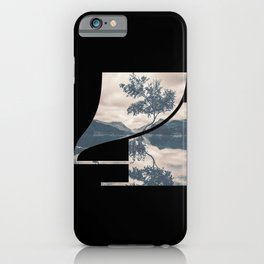 Nr. 4 | Numbers with a View | Typography Letter Art iPhone Case