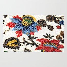 Antique Floral Vintage Pattern Design Rug