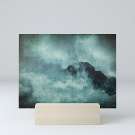 On the top of the world - Mountains Dust Mini Art Print