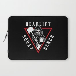 Squat Bench Deadlift Grim Reaper Laptop Sleeve