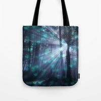 dark souls Tote Bags featuring Wandering Souls by Lena Photo Art