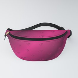 hearts in red purple Fanny Pack