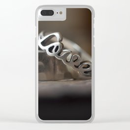 love overcomes Clear iPhone Case
