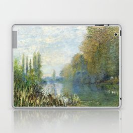 The Banks of The Seine in Autumn by Claude Monet Laptop & iPad Skin